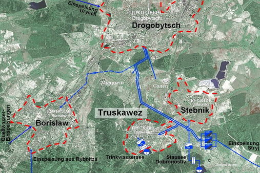 Reconstruction of the water supply system for the towns of Truskavets, Drogobych, Borislav and Stebnik (Ukraine, Lvov region)
