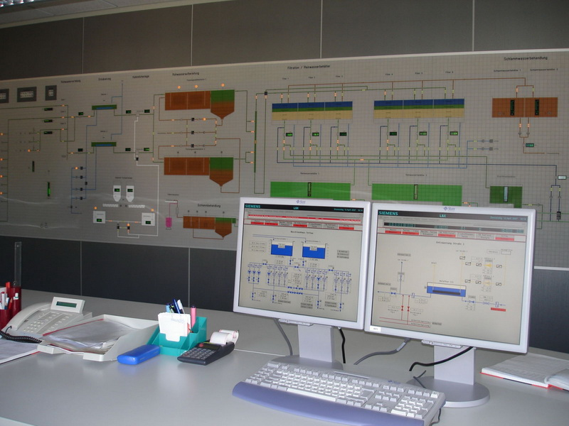 Process control system for the Tettau drinking water treatment plant